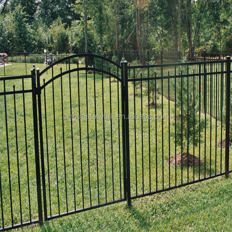wrought iron fence gate metal pool fence and arched gate