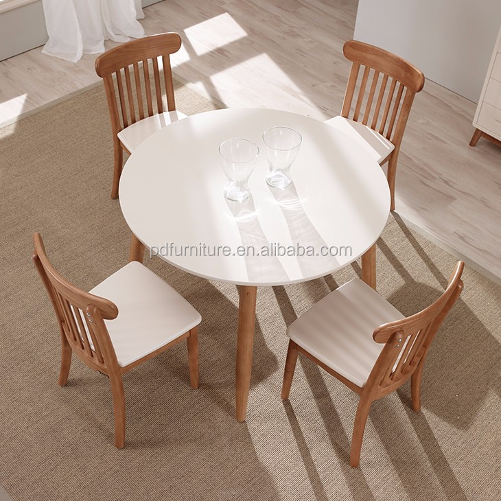 Home furniture dinner table wood imported round wood dining table