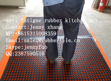 Anti-slip and anti-fatigue porous rubber floor mat kitchen floor coverings