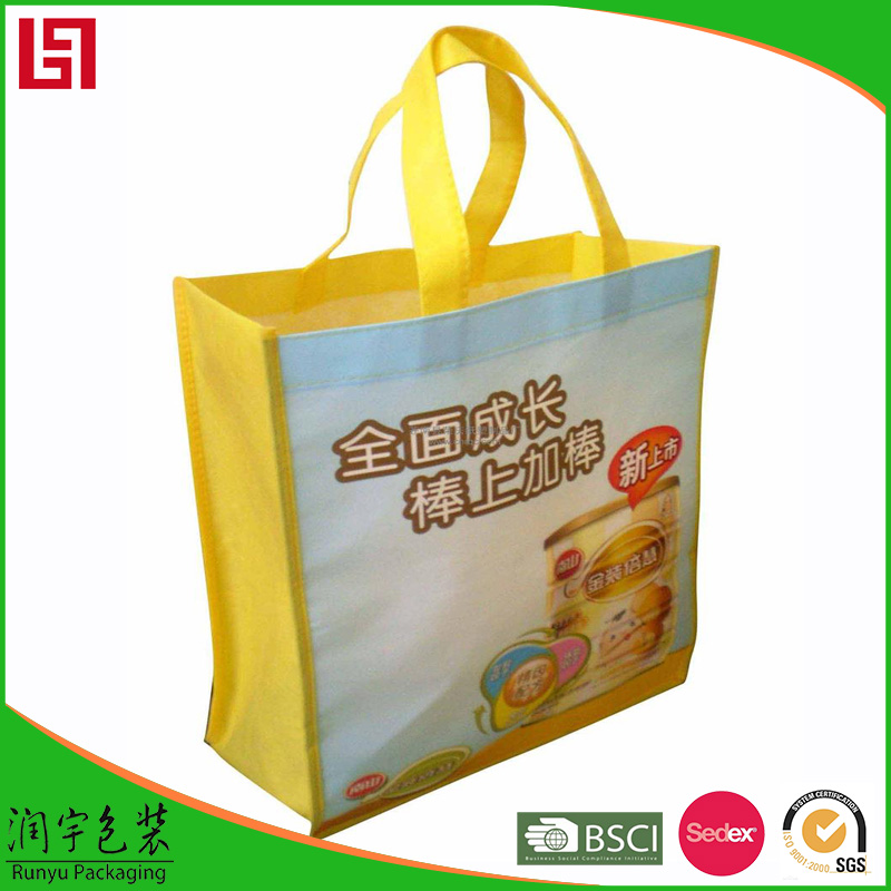 Hand Painted Winter Warming Design Xmas Ball paper shopping bag without handle