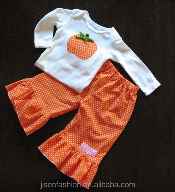 personalized pumpkin applique halloween baby clothing