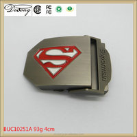 Locking custom zinc alloy superman belt buckle factory wholesale metal belt buckle
