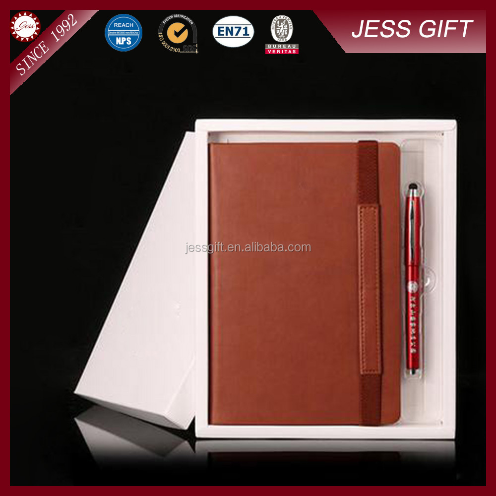Alibaba China Supply Wholesales Leather Notebook Pen Gift Set For Men
