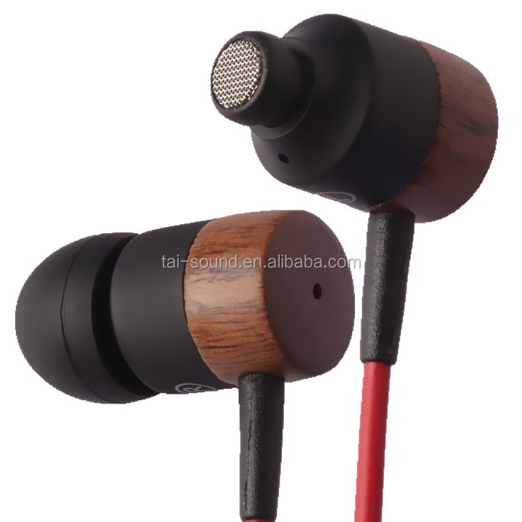super high-end in-ear wooden earphone