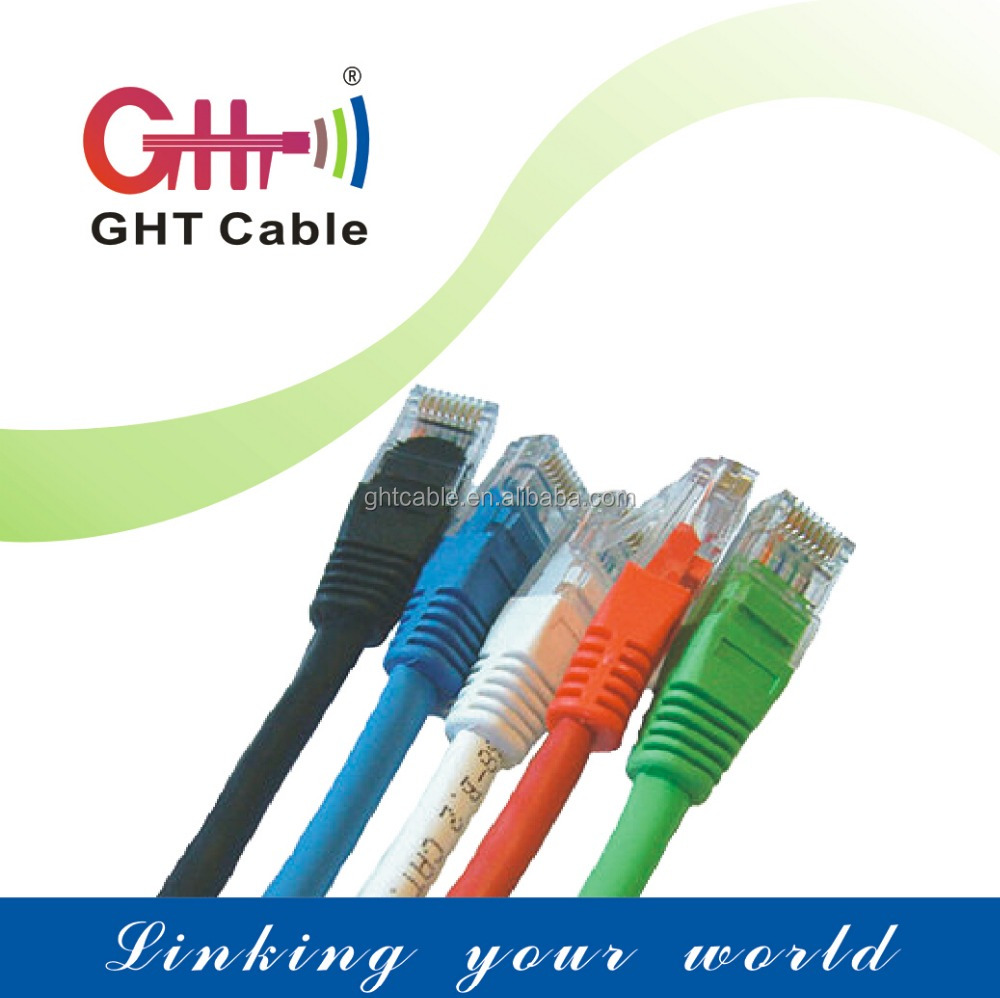GHT wires and cables!utp cat6 patch cord cable 24awg CCA 4Pr connector cable