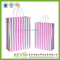 high quality customized OEM popular design promotional paper carrier bag