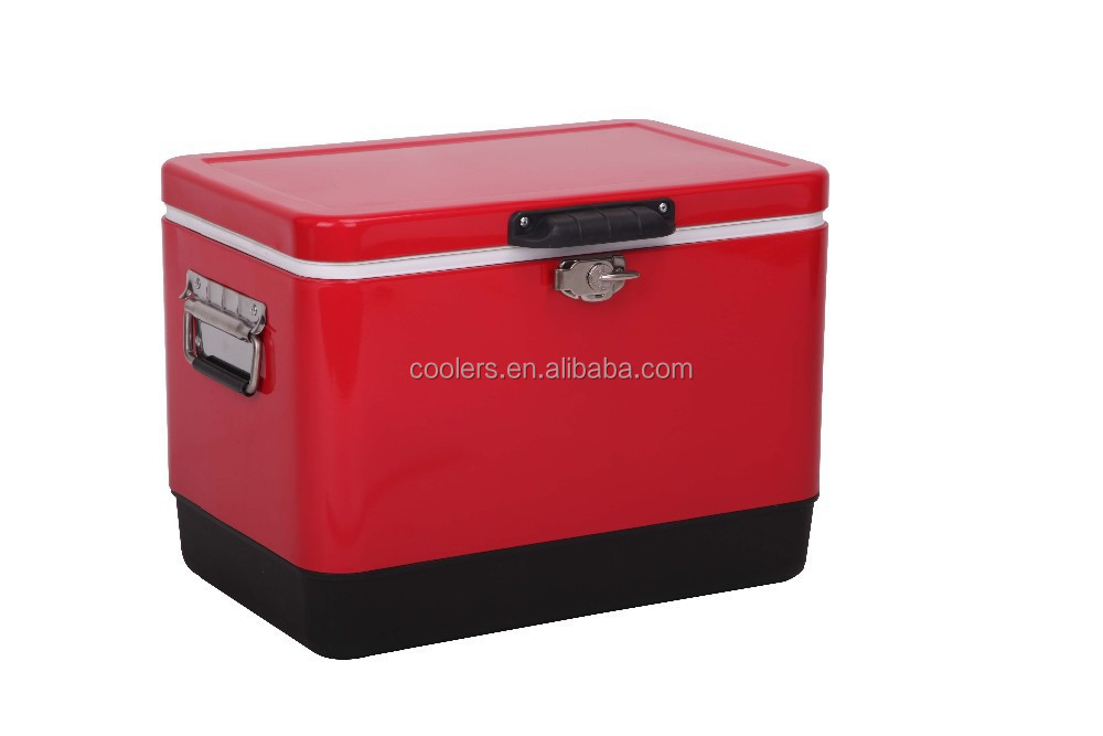 steel cooler Hielera steel belted Iron man cooler box