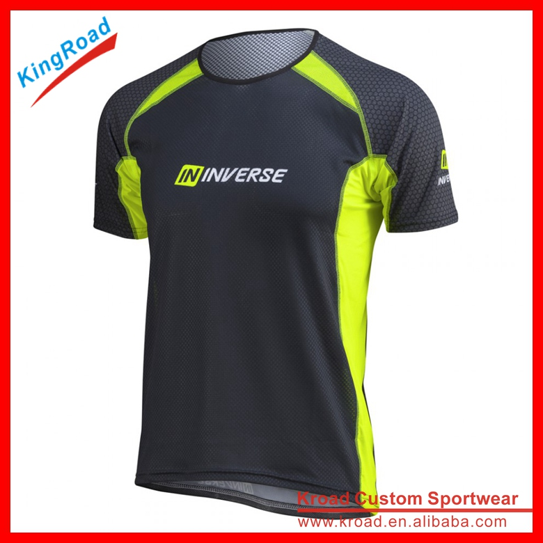 Fashion New custom running t shirt running clothes for men wholesale running gear