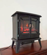 20 Inches Freestanding Decor Flame Electric Fireplace Heater