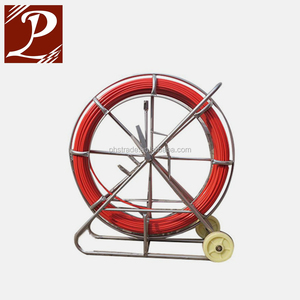 Fiberglass cable pulling duct rodders for tracing easily