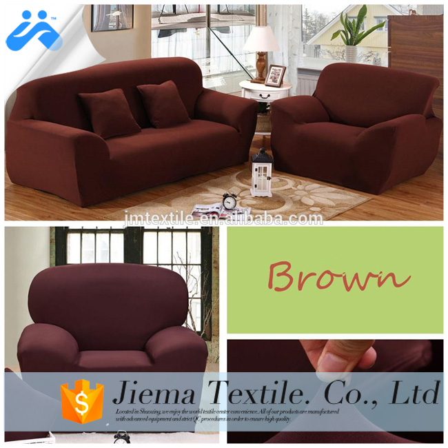 100%polyester Spandex Sofa Cover With Stretch
