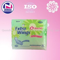 most popular disposable cotton feminine winged sanitary napkins in china