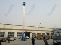 CE SGS Approve single one man person lift two-mast luxury aluminum alloy lift/home elevator/Movable hydraulic aluminum lift/