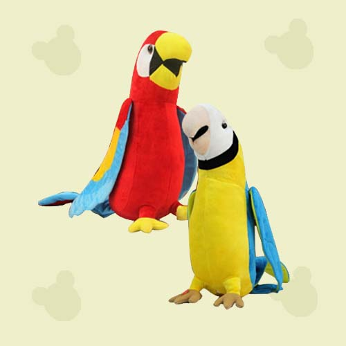 stuffed plush bird toy plush parrot soft toy