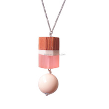 Fashion Bohemian Wood Resin Bead <strong>Necklace</strong>