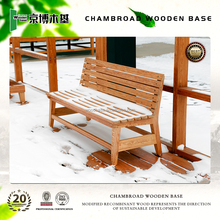 waterproof and corrosion resisitant outdoor wood bench