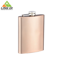 Sedex approved stainless steel steadfast strong gold plated hip flask