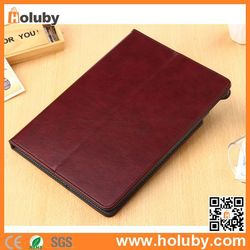 Book Style Leather Case for iPad Air 2 with Elastic Belt, Card Slot Leather Case for iPad Air 2