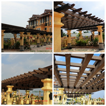 Wood-plastic Composite WPC Long and Large Pergola