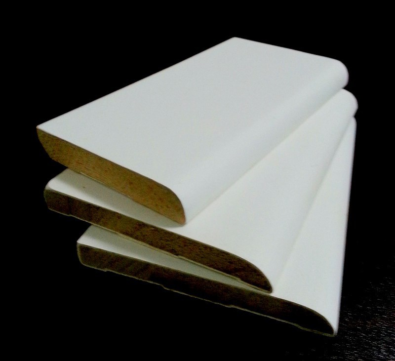 Gesso Primed Light MDF plain Cornice Moulding