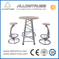 New design aluminium bar table/bar stool with favorable price