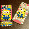 cute cartoon character phone case for iphone 6, cell phone case cartoonl for iphone 6 little yellow man