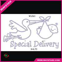 Special Delivery Letter Hotfix Rhinestones Transfer Designs For Girls T shirt