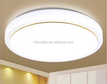 LED ceiling light round with golden circle indoor use