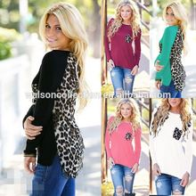 Trade assurance wholesale women blouse leopard design Plus size loose tshirt on sell