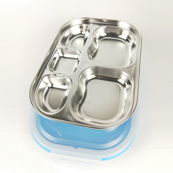 wholesale stainless steel lunch box with 5 compartment for kids
