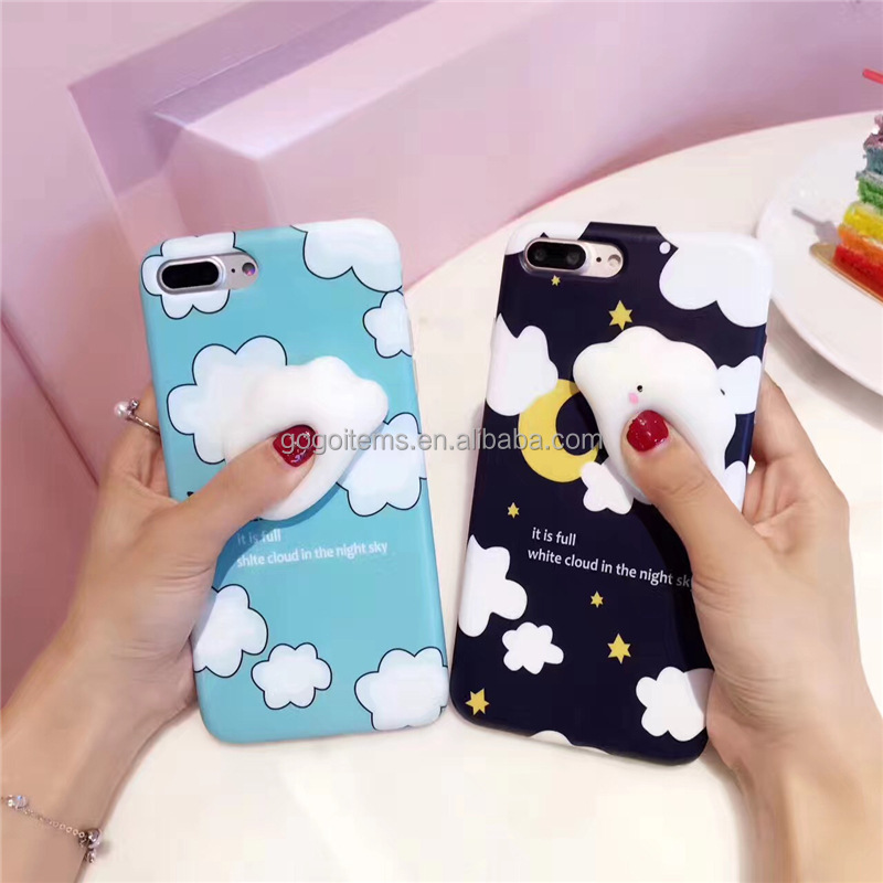 lovely squeeze bear TPU silicon mobile plastic silicone cell phone case wholesale for iphone 7