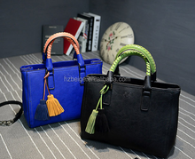 Wholesale online shopping lady leather handbag in stock, cheap imitation handbag , leather tassels for handbag