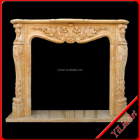 Indoor Marble Fireplace.fireplace mantel,fireplace frame,Home Decoration (YL-B021)