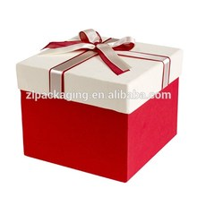 custom christmas cardboard present packaging boxes with ribbon