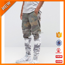 Camo panel design men jogger pants for men /all water printing matching two Camo printing joggers from shuliqi factory H-1889