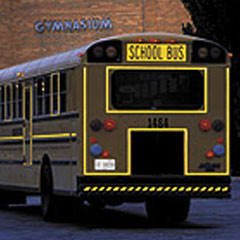 Used School Buses Reflective Tape, School Buses Reflective Tape, School Buses DOT Tape HI-INT-1800YW