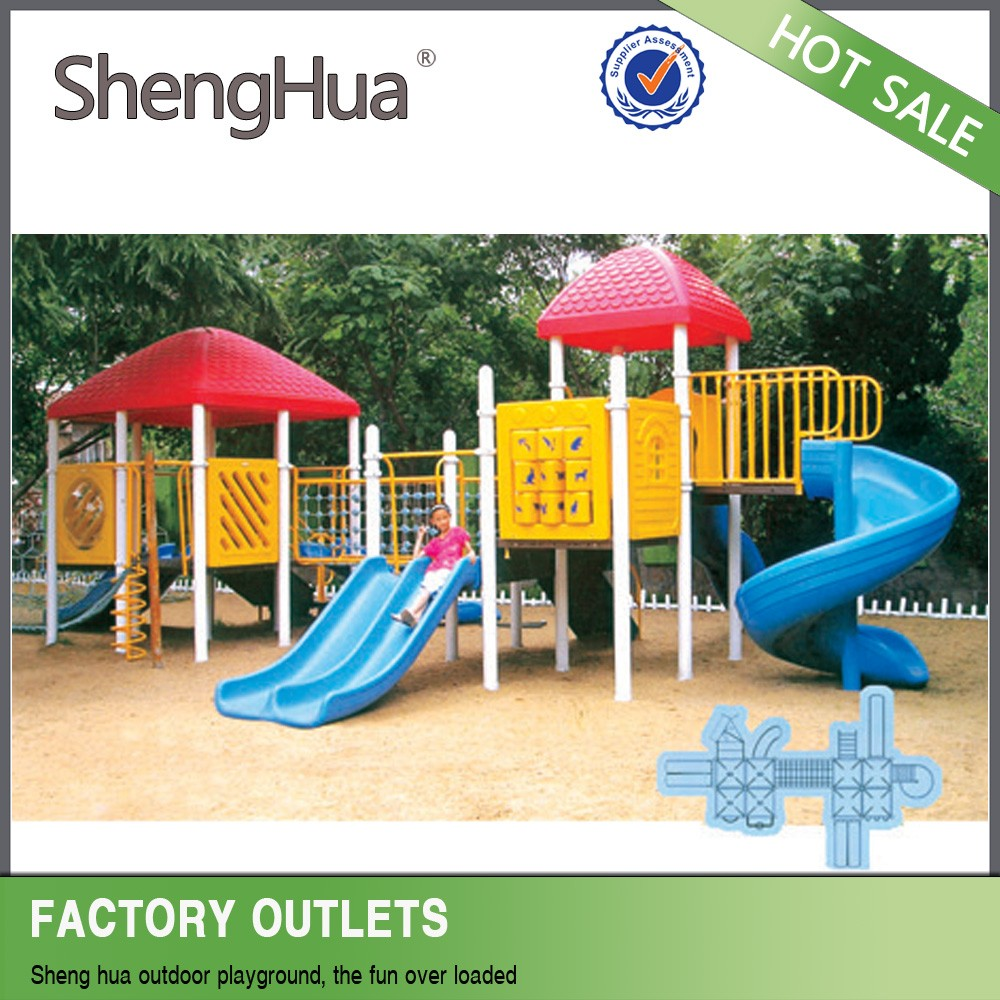 Outdoor wooden playground hot sale kids amusement park facility