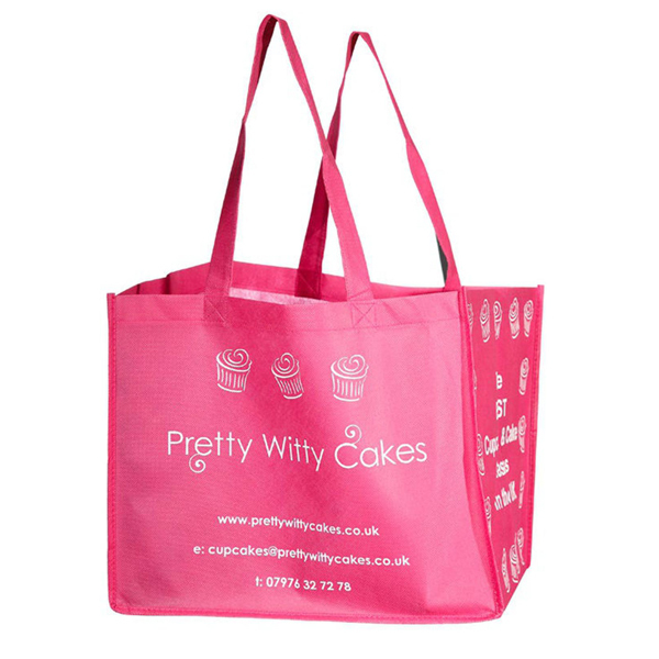 Recyclable laminated non woven polypropylene tote bag