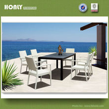Luxury elegant outdoor furniture elegant dining table sets
