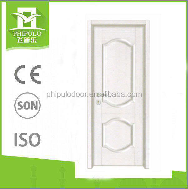 Top quality white colour surface melamine door on hot sale