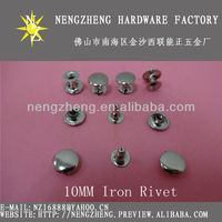 metal iron open-end rivets bags hardware accessories