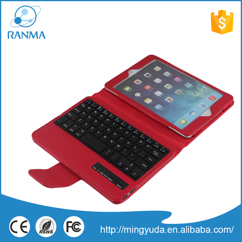 Flip leather cover stand bluetooth tablet case for ipad mini 2