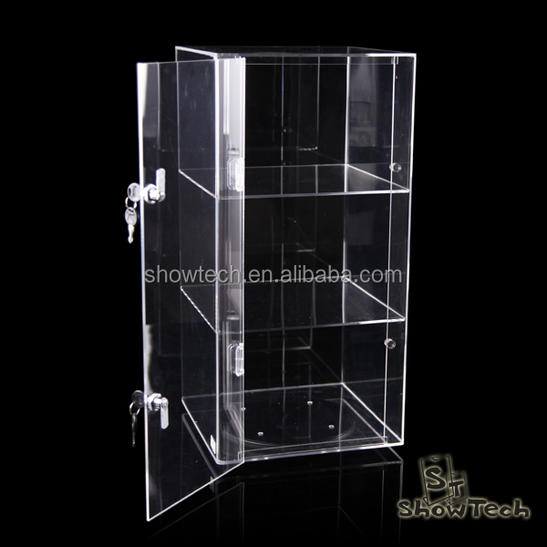 New Design Jewelry Shop Acrylic Display Case Locking Security Cabinet ShowCase