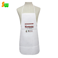White Color Custom design women kitchen cooking clothes