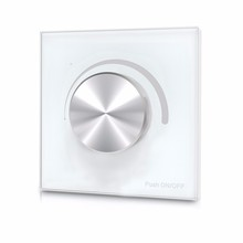 Wall Mounted Rotary Panel AC Triac RF LED Dimmer; Input voltage:100 240VAC; voltage Output:100-240VAC