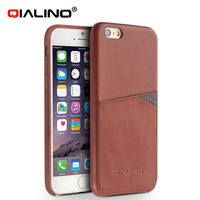 QIALINO Oem Production Hand-Made Cow Leather World Map Case For Iphone 6S