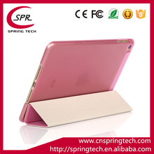 pink color case smart cover for ipad mini 4 PU folding sleeve Newest pad protective