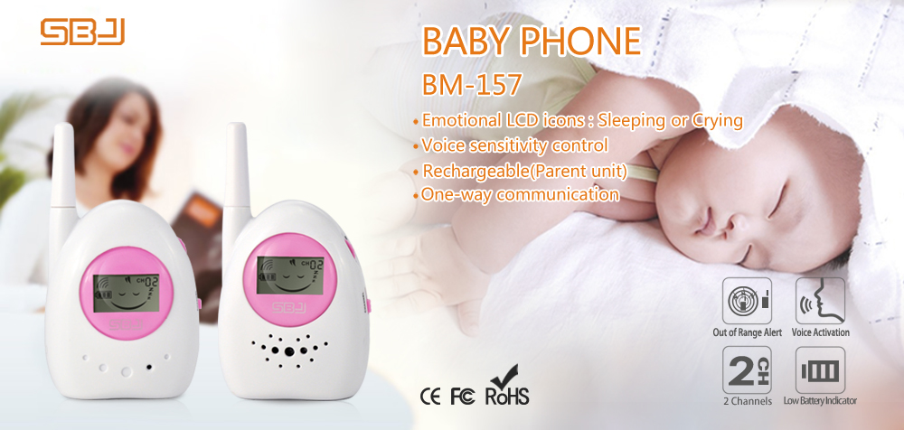 wireless  portable professional nanny phone monitor audio sound monitor analog phone