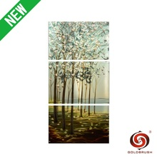 Decorative wall decor art tree on metal plate