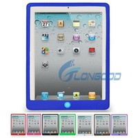 Colorful Case With Button Make Silicone Case for New iPad iPad3